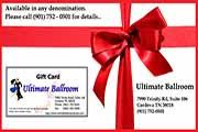 Ultimate Ballroom: Gift Card